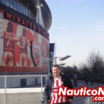 Marcos Guerra no Emirates Stadium do Arsenal, em Londres
