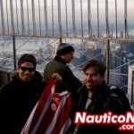 Bizu e Mauro, no Empire State em New York