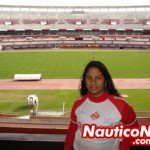Maria Moreira, no estádio do River Plate na Argentina
