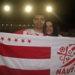 Eu e minha noiva Cristina juntos no jogo entre Nutico 2-1 Barueri na Srie B - Arquibancada Central