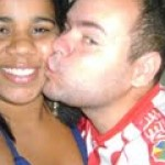Eu beijando meu amor
